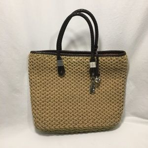 Brighton Woven Jute Handbag with Charms